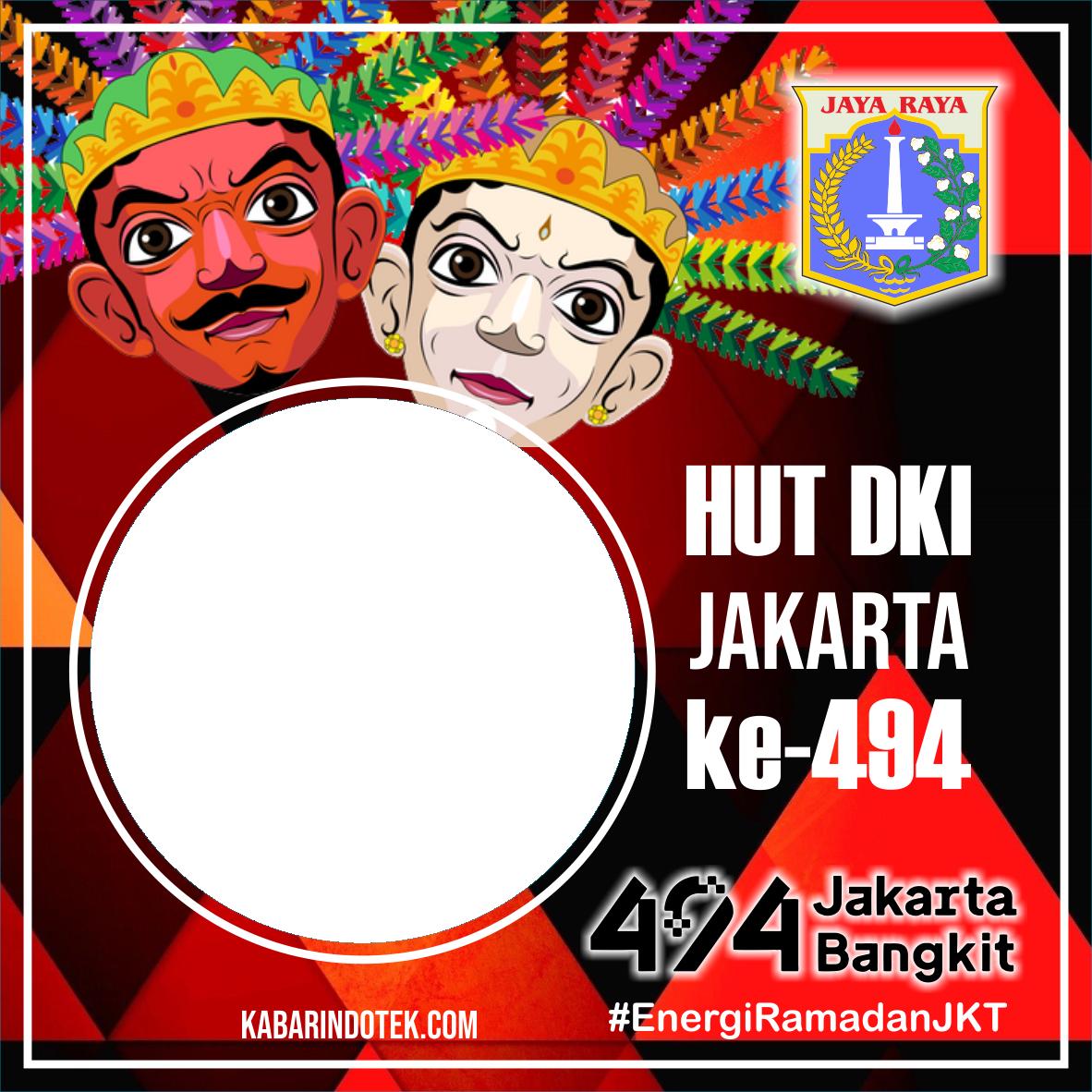 Desain Twibbon HUT DKI Jakarta 2021